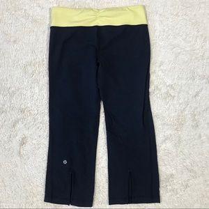 Lululemon Navy /Yellow Capri Legging (6)